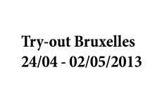 Try-out Bruxelles