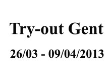 Try-out Gent